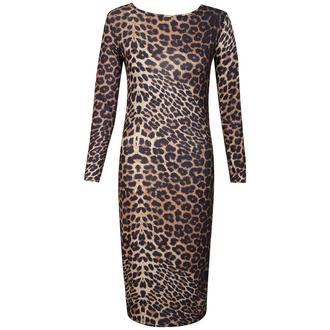 View Item Leopard Print Bodycon Midi Dress